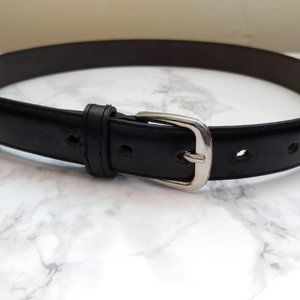 Classic Black Belt with Gold Detailing